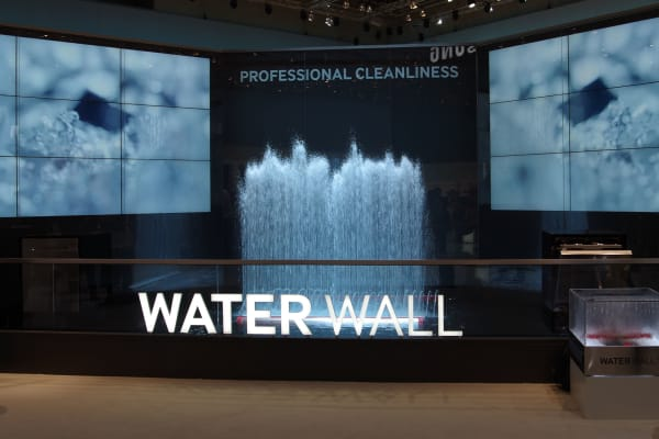 Samsung made a big deal about WaterWall's European debut at IFA 2014 in Berlin.