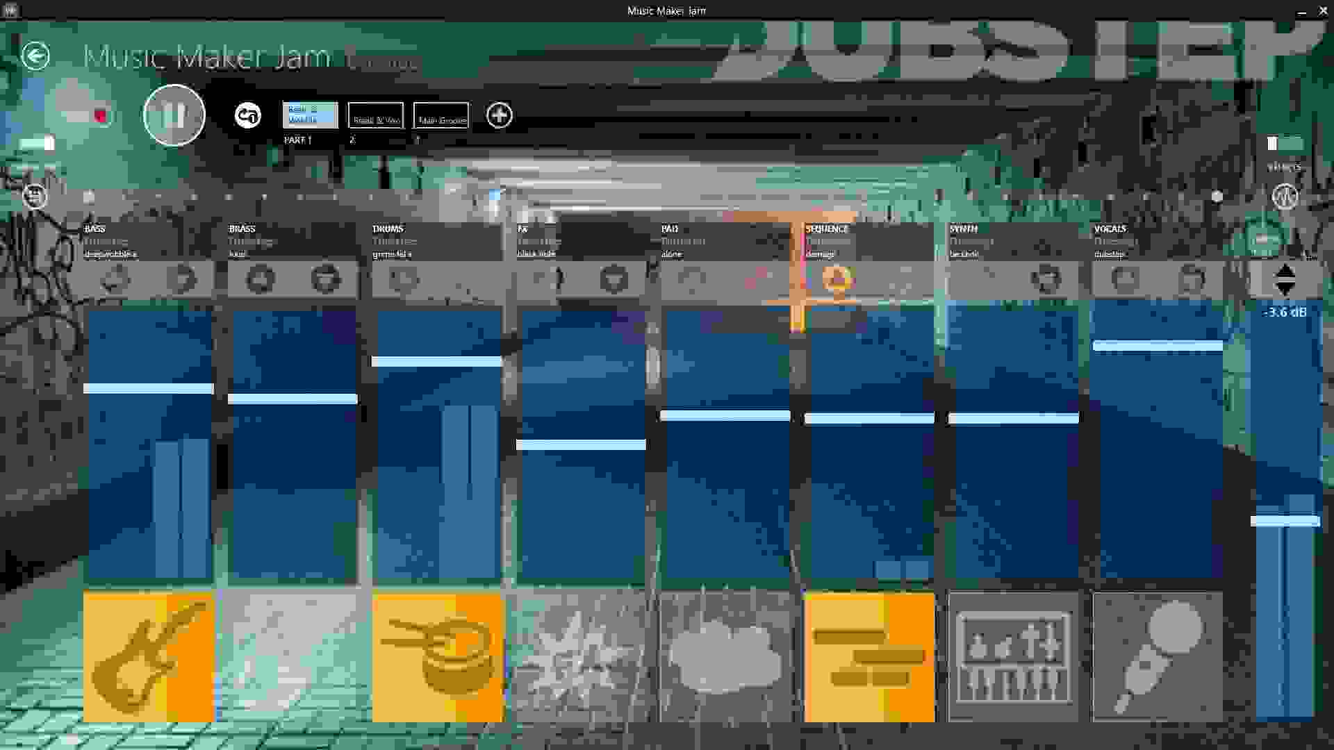 A screenshot of the Music Maker Jam app.