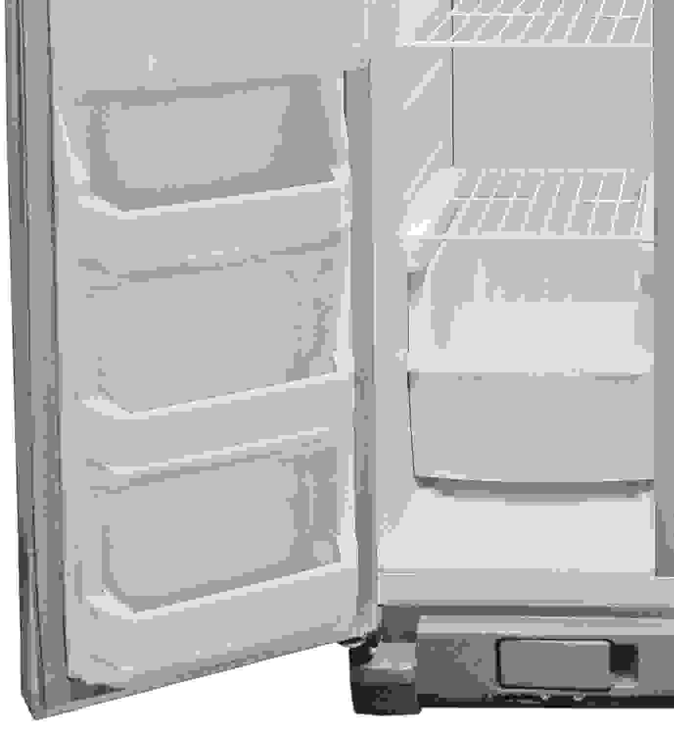 A little extra space is found at the bottom of the Whirlpool WRS325FDAM's freezer door.