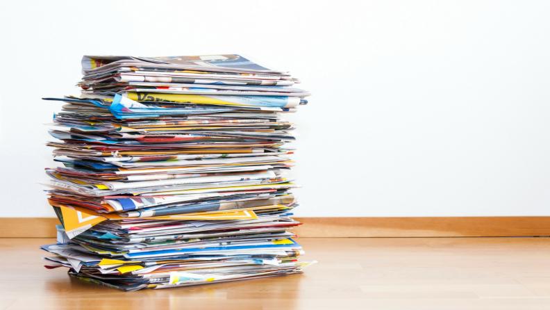 Magazine pile