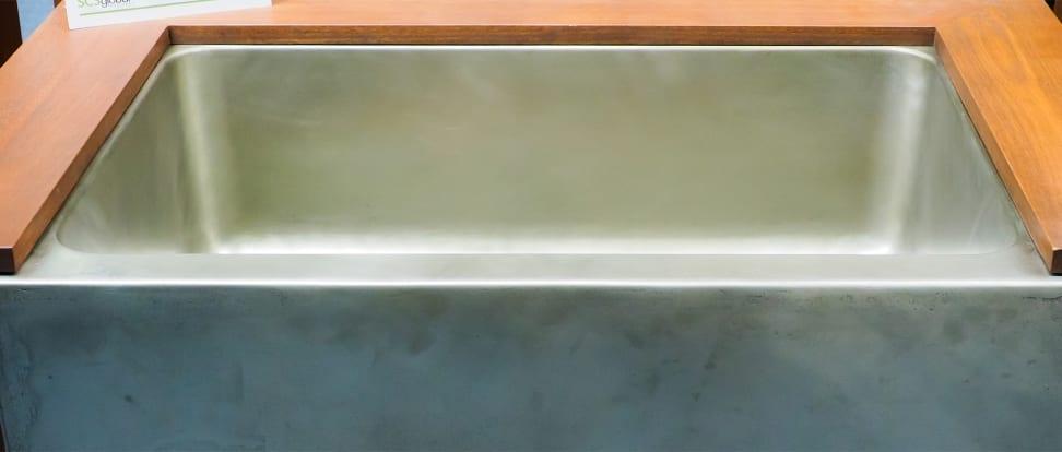 White bronze sink