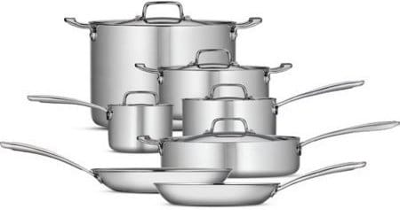 Product Image - Tramontina Tri-Ply Clad 12-Piece Cookware Set