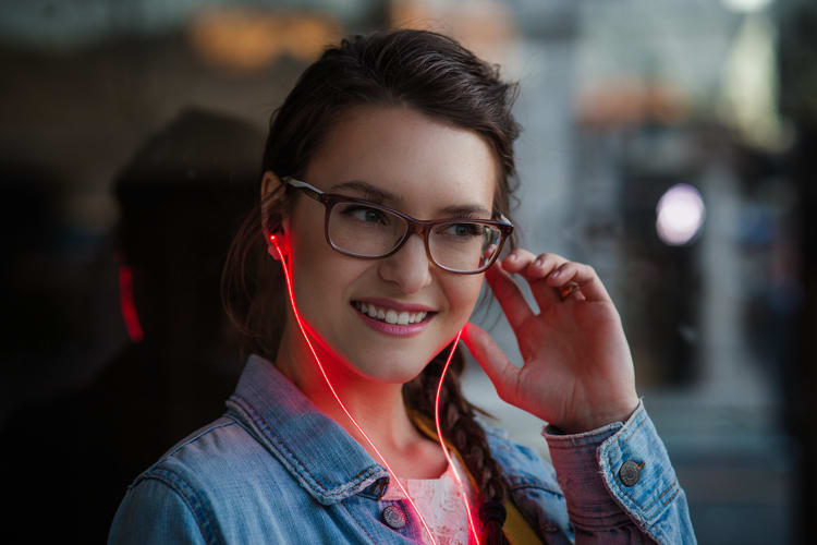 These light-up headphones pulse to the beat of your heart.