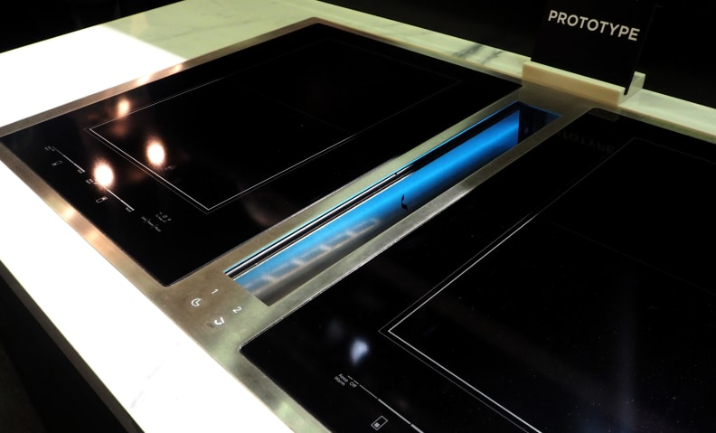 Jenn-Air induction cooktop with downdraft ventilation prototype