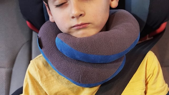 BCOZZY Kids Chin Supporting Travel Neck Pillow