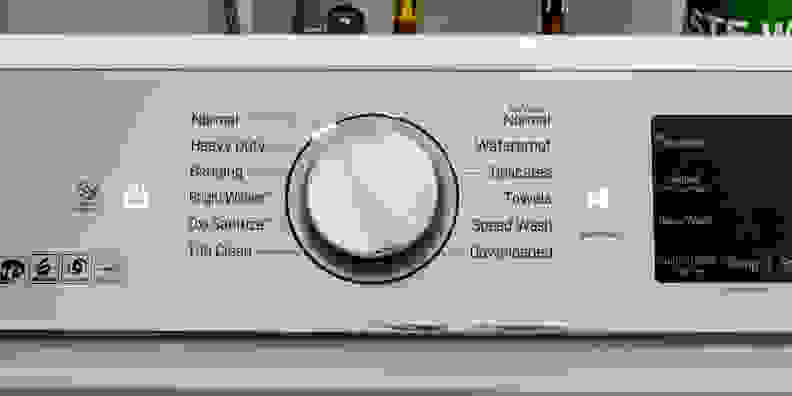 The The LG WT7500CW top-loading washer.