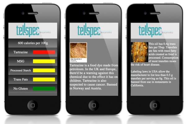 The TellSpec app.
