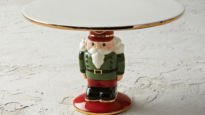 This nutcracker will happily hold your show-stopping holiday dessert.