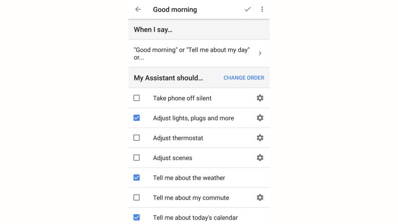 Google Home Good Morning