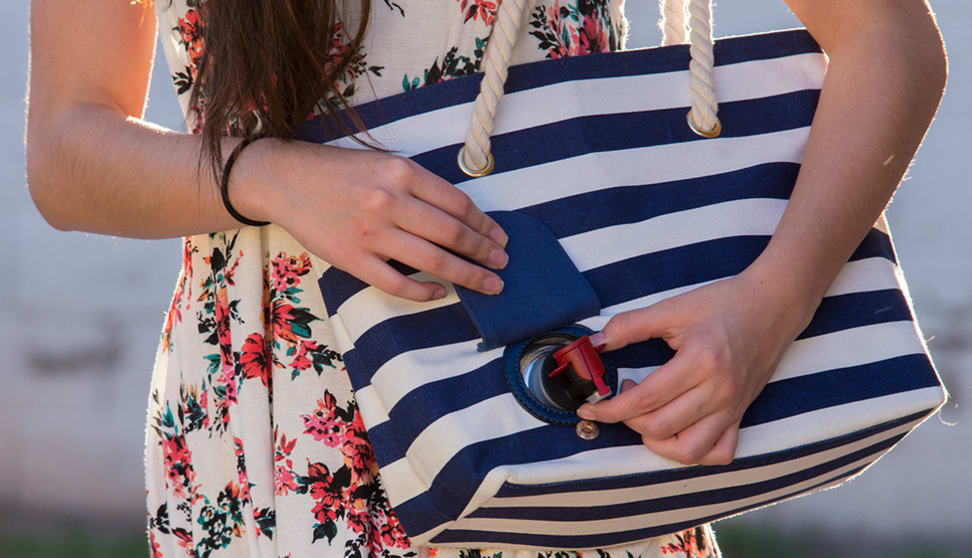 This innovative purse doubles as a wine dispenser.
