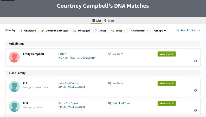 AncestryDNA Matches