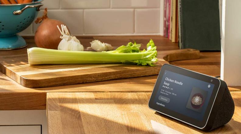 Amazon Echo Show 5 in kitchen