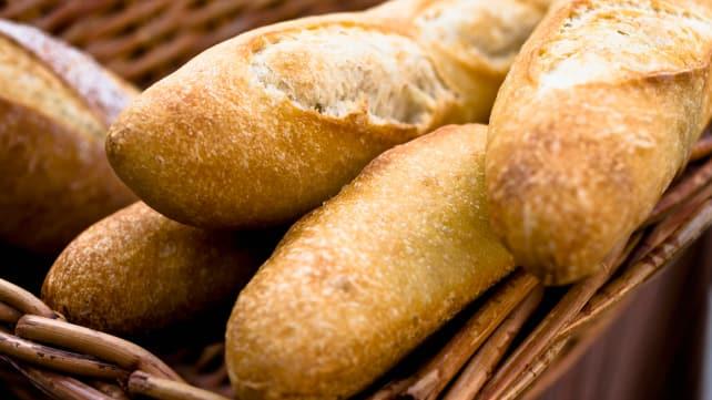 How to soften stale bread - basket of bread