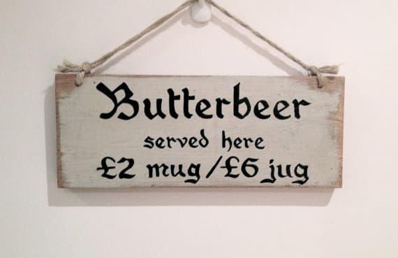 Butterbeer Sign