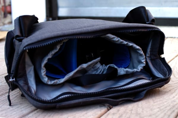 There's enough internal space to easily fit a tablet, small laptop, camera, lenses, and other accessories.