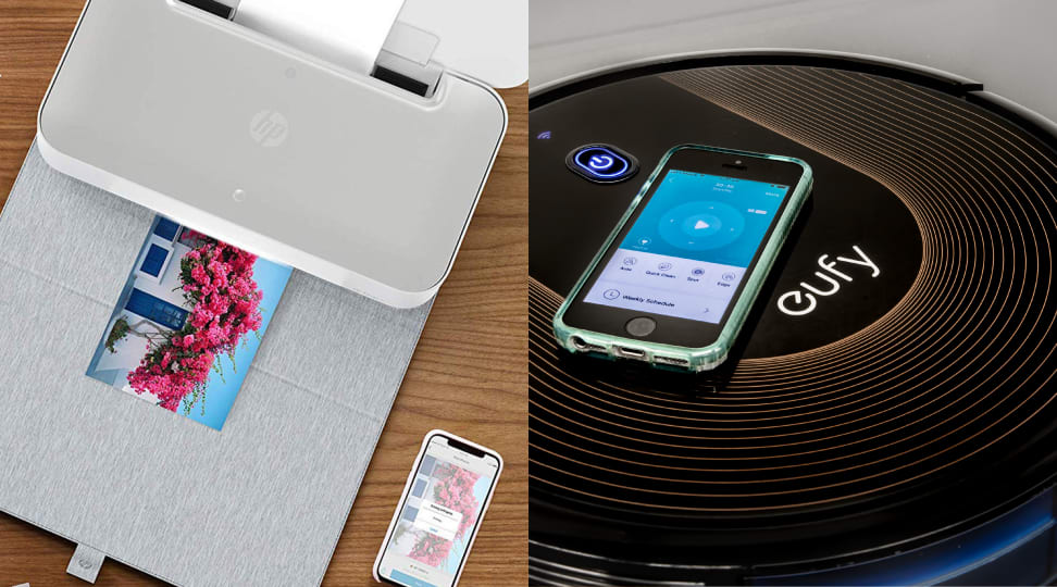 HP Tango Smart Printer and the Eufy BoostIQ RoboVac 30C