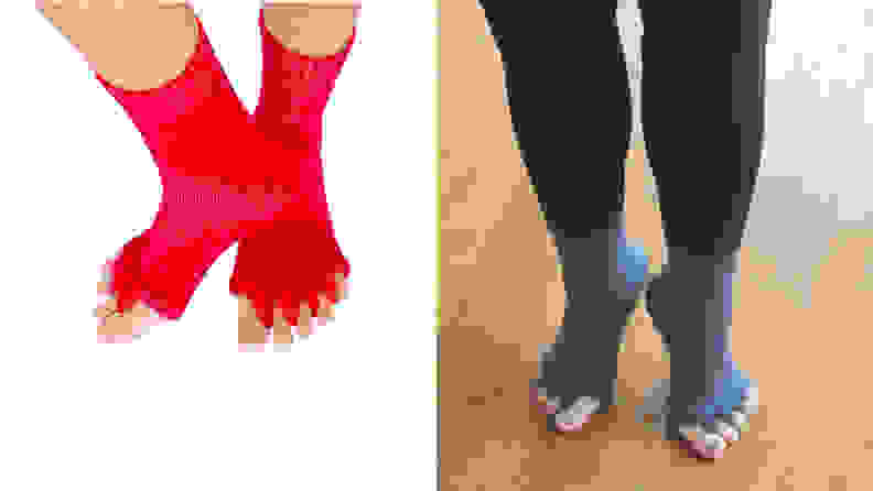 Triim Fitness Toe Separator Yoga Gym Socks