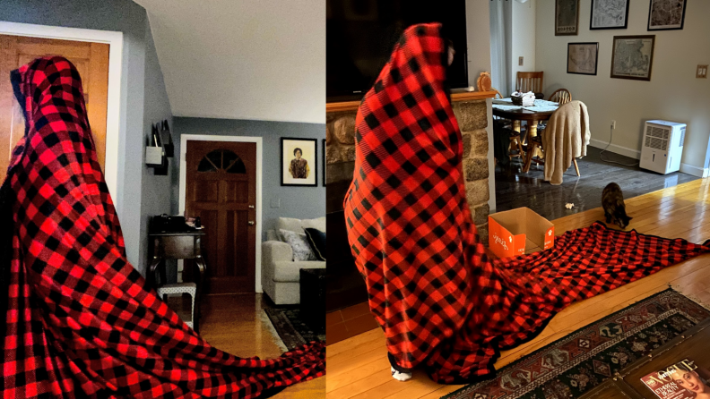 Kate in blanket
