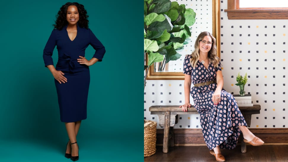 Interior designers Dominique Fluker at left and Meg Piercy at right
