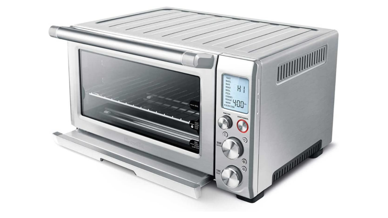 A Breville Smart Oven silhouetted against a white background.