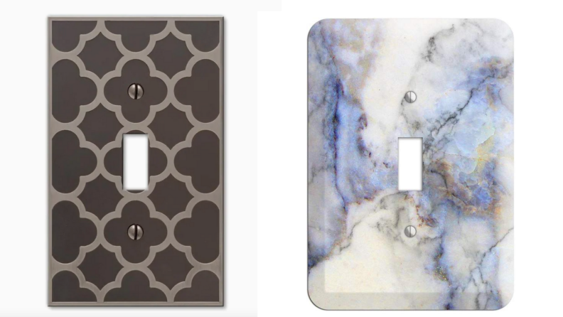 Spindle marble cover plates product shot