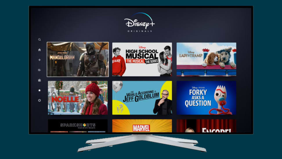 TV wit Disney Plus on it