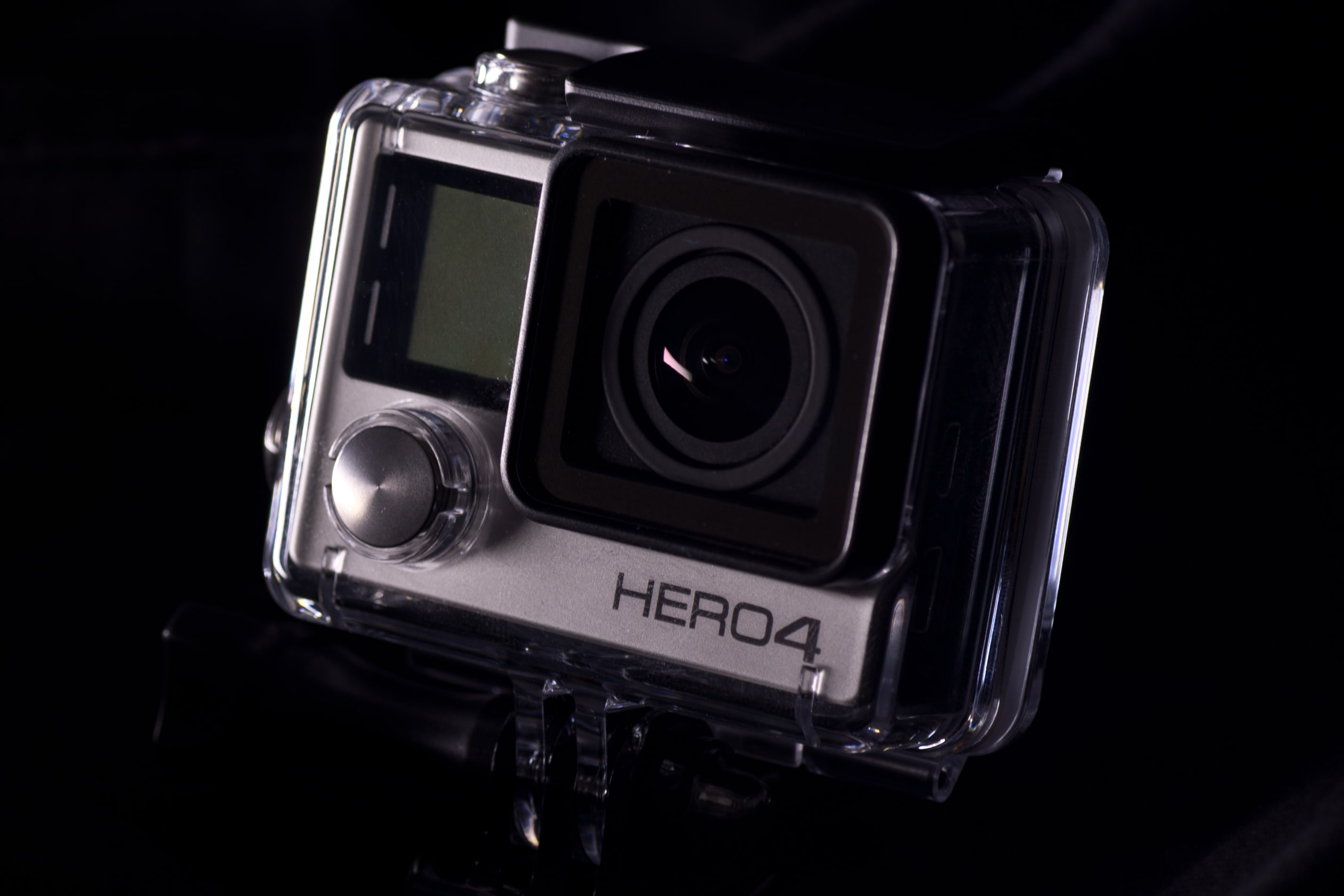 A photograph of the GoPro Hero 4 Silver's case.