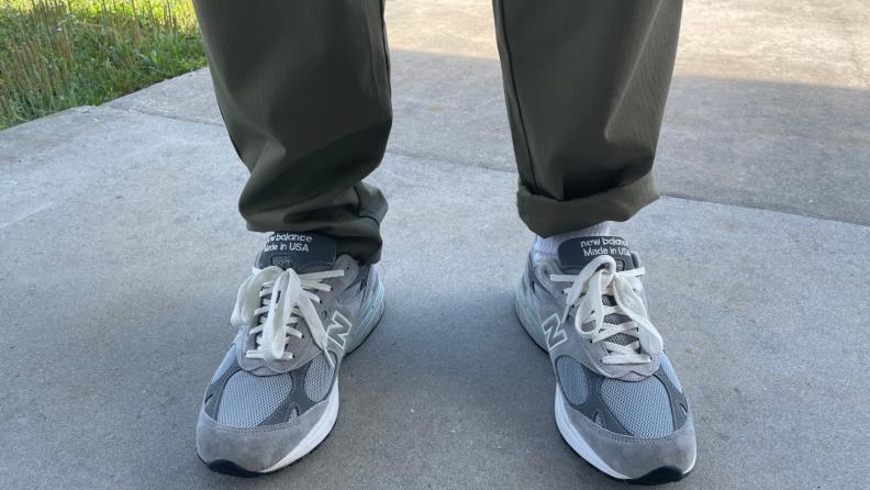 Cookman USA chef pants cuffed