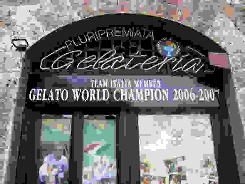 A genuine Italian gelateria