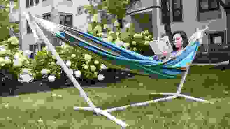 Women in a hammock