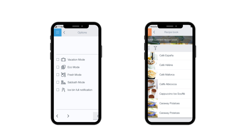 Use your iPhone to sync up your smart appliance with the Bosch Home Connect app