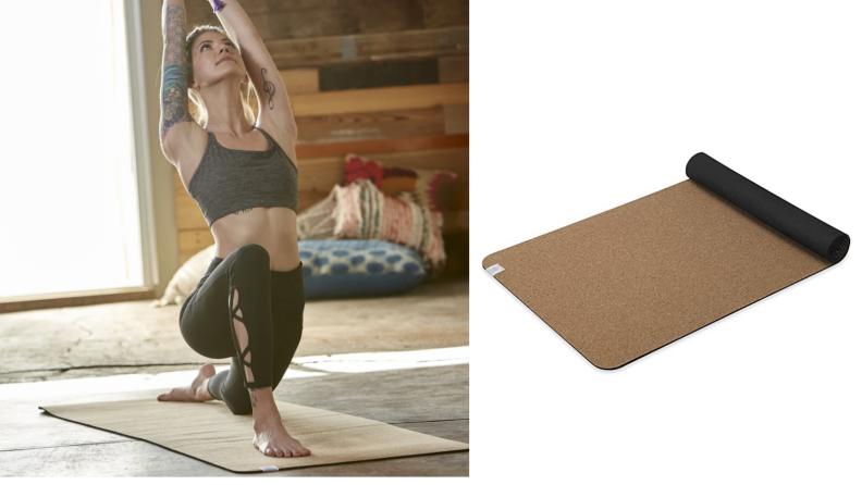 A cork yoga mat.