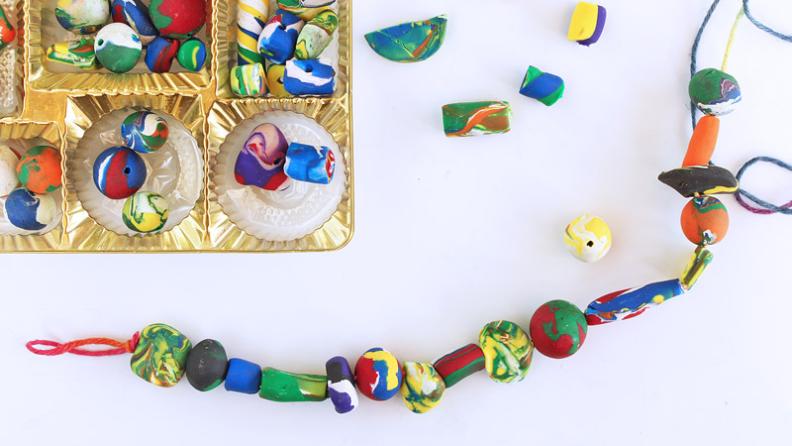 hand made clay beads