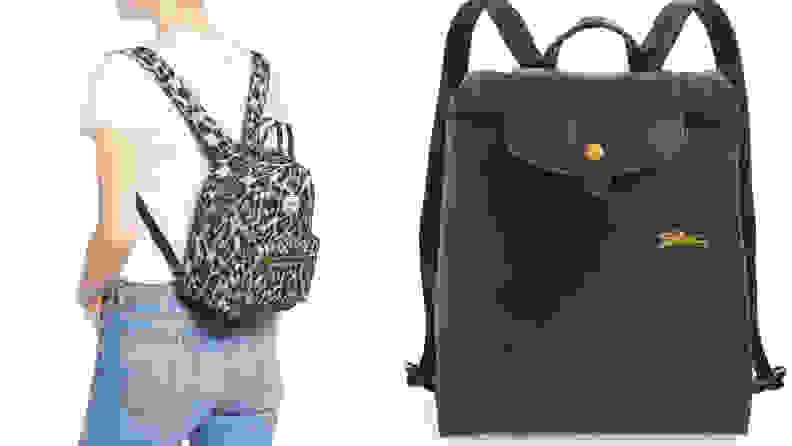 Herschel and Longchamp mini backpack