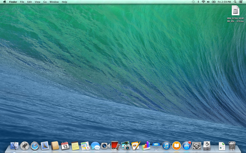 A screenshot of the Apple MacBook Pro with Retina Display's desktop.