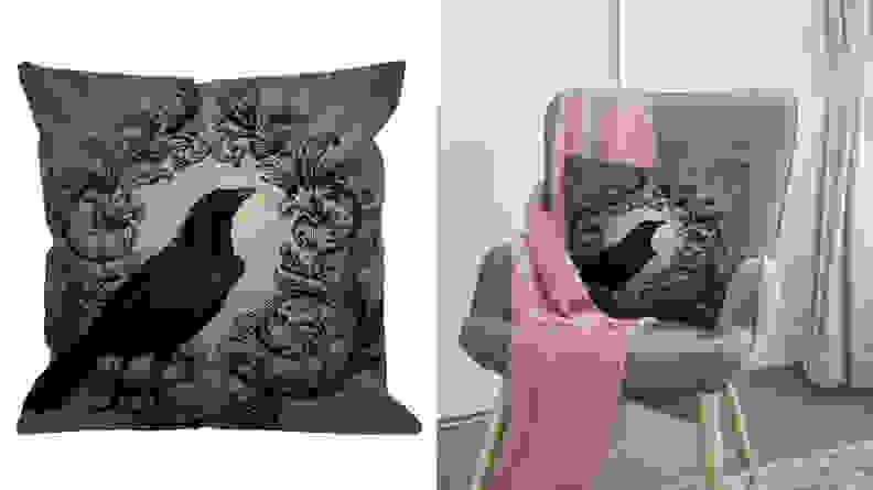 Hgod Designs Crow Throw Pillow Case