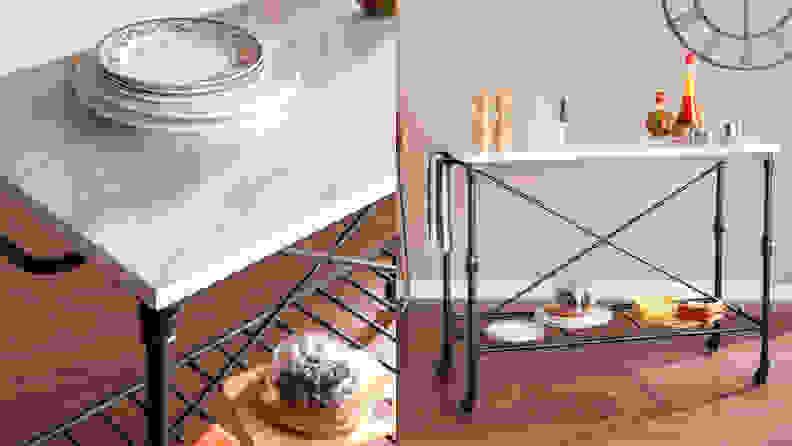 Overstock Carbon Loft Owen Rolling Kitchen Island