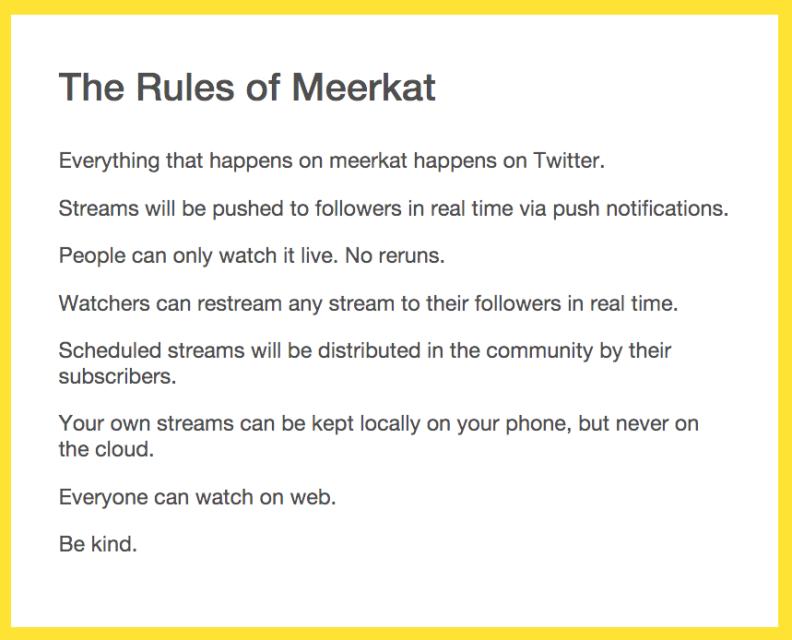 Meerkat Rules