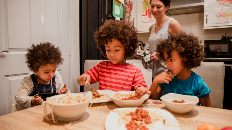 Let kids choose which parts of the meal they want to eat.