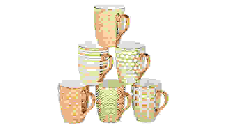 Certified International Gold Mug Set