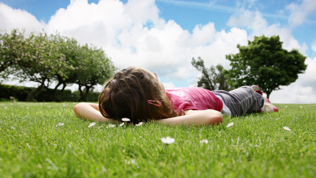 Relaxing after school
