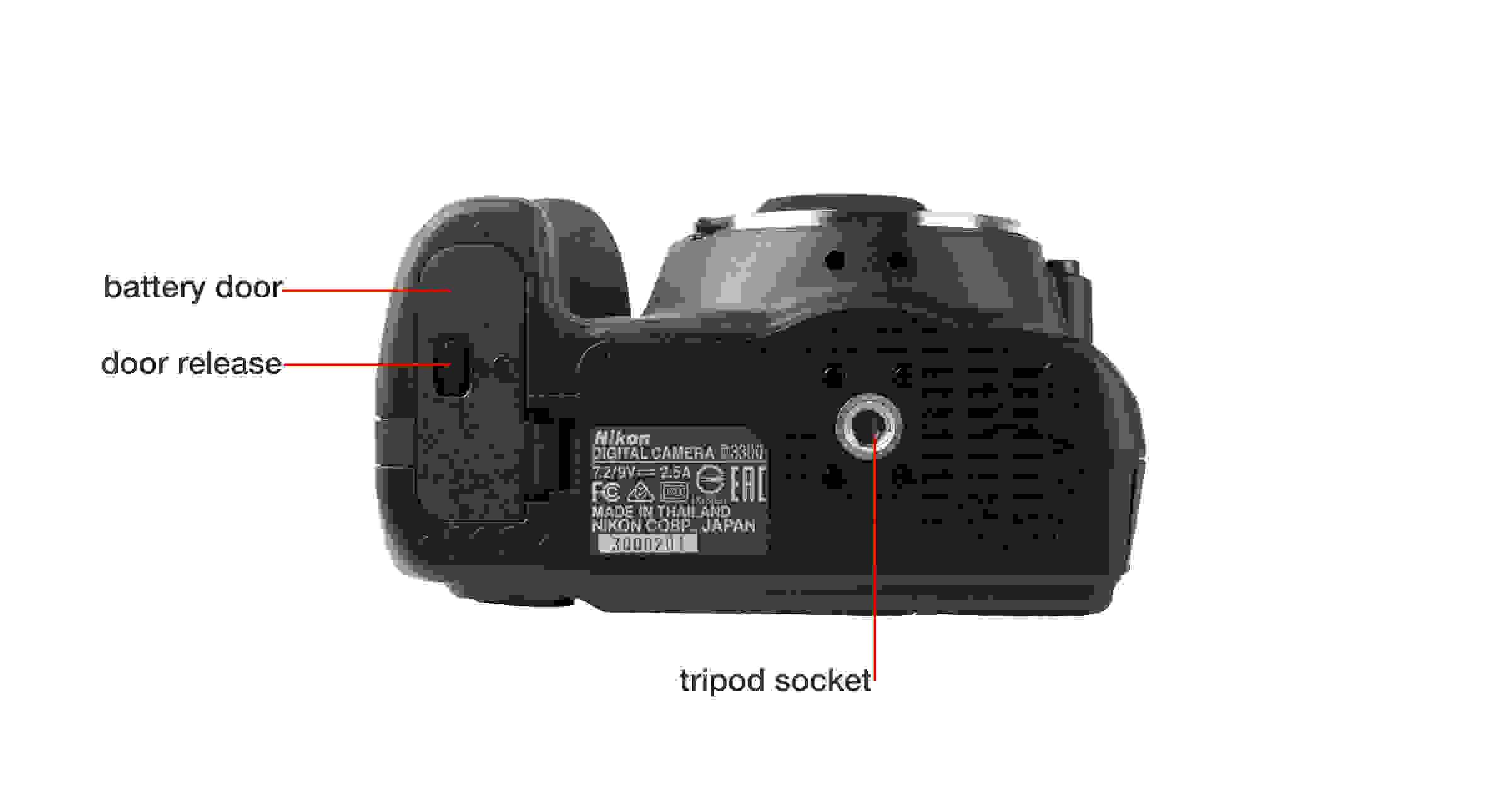 Bottom of Nikon D3300