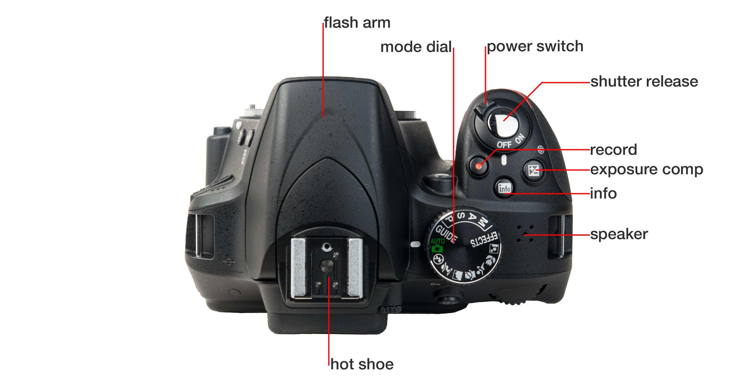 Top of Nikon D3300