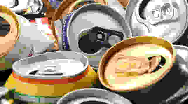 used soda cans