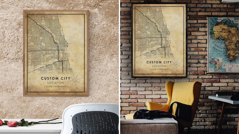 A minimalist and modern customizable map.