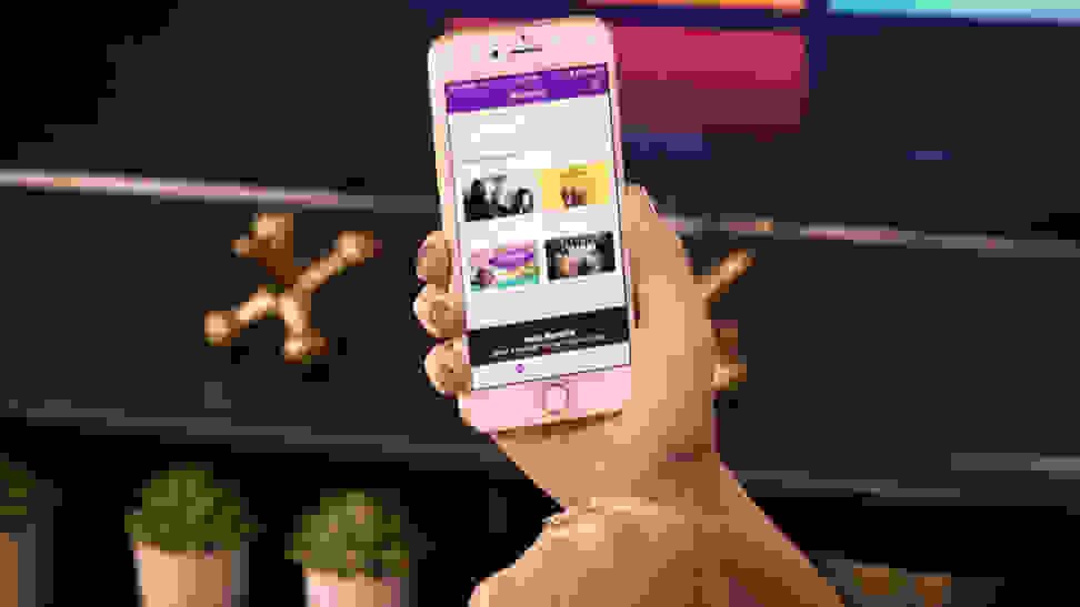 The Roku mobile app in action on a smartphone