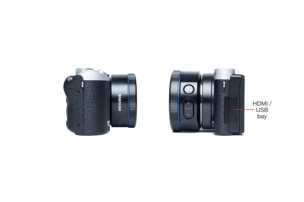 Side view of the Samsung NX500.