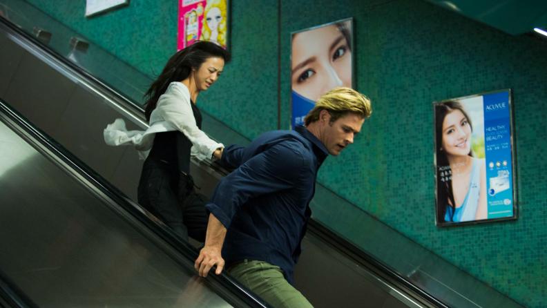 Chris Hemsworth and Tang Wei hunt a cyberterrorist in 'Blackhat.'
