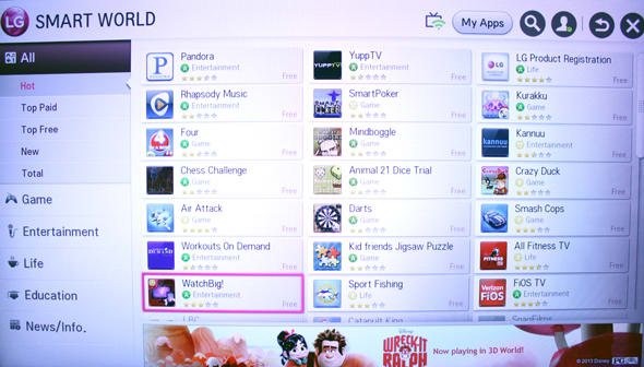 LG's app store has plenty to see, but not much is worthwhile.