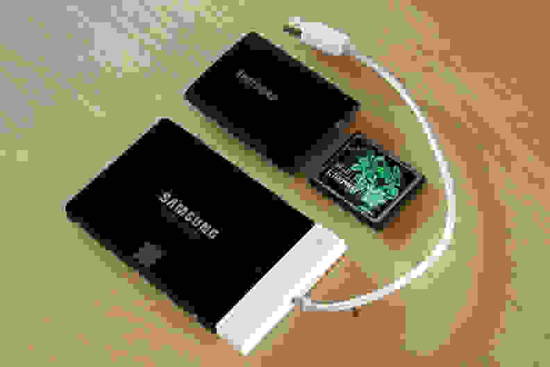 The T1s size is closer to a compact flash card in terms of size than it's larger, internal cousin.